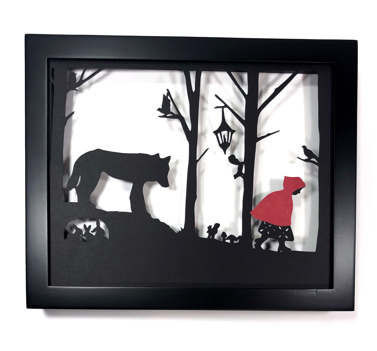 red large black frame