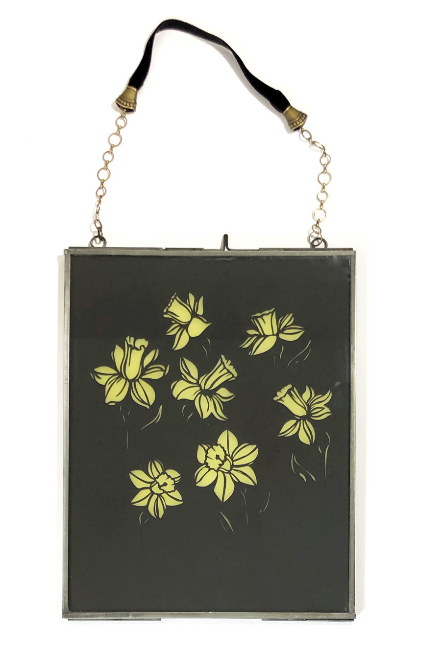 daffodil rhaps handcut paper art