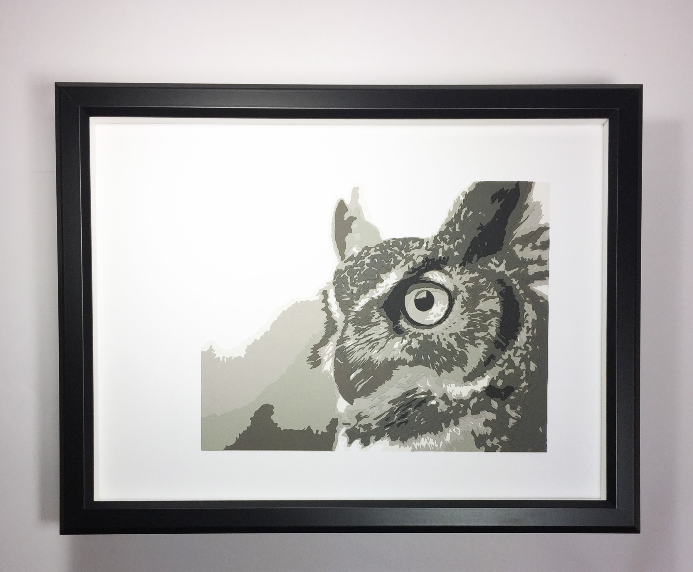 Squirrel Tacos Great Horned Owl, Layer 12×16
