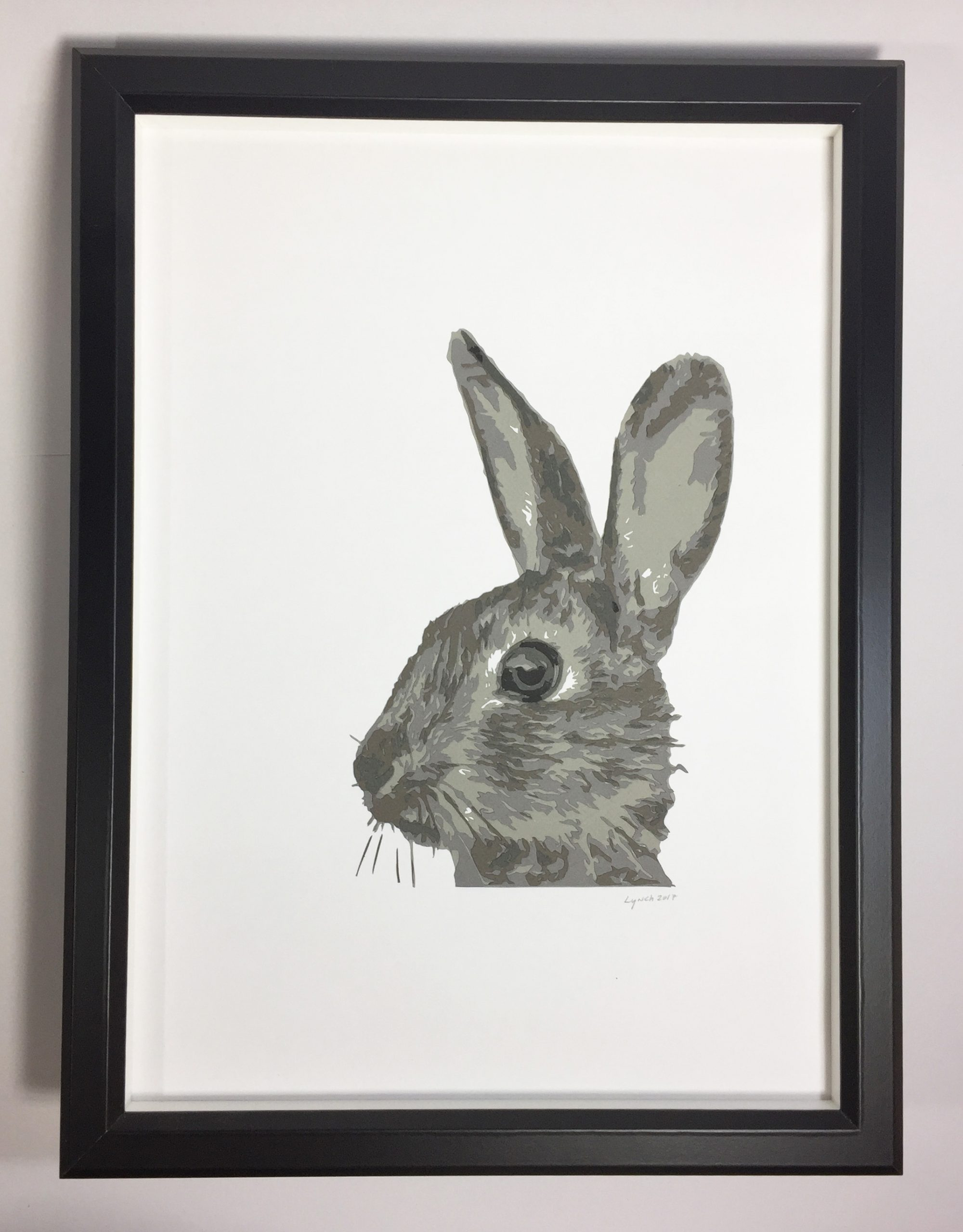 Showshoe Rabbit, layer 12×16