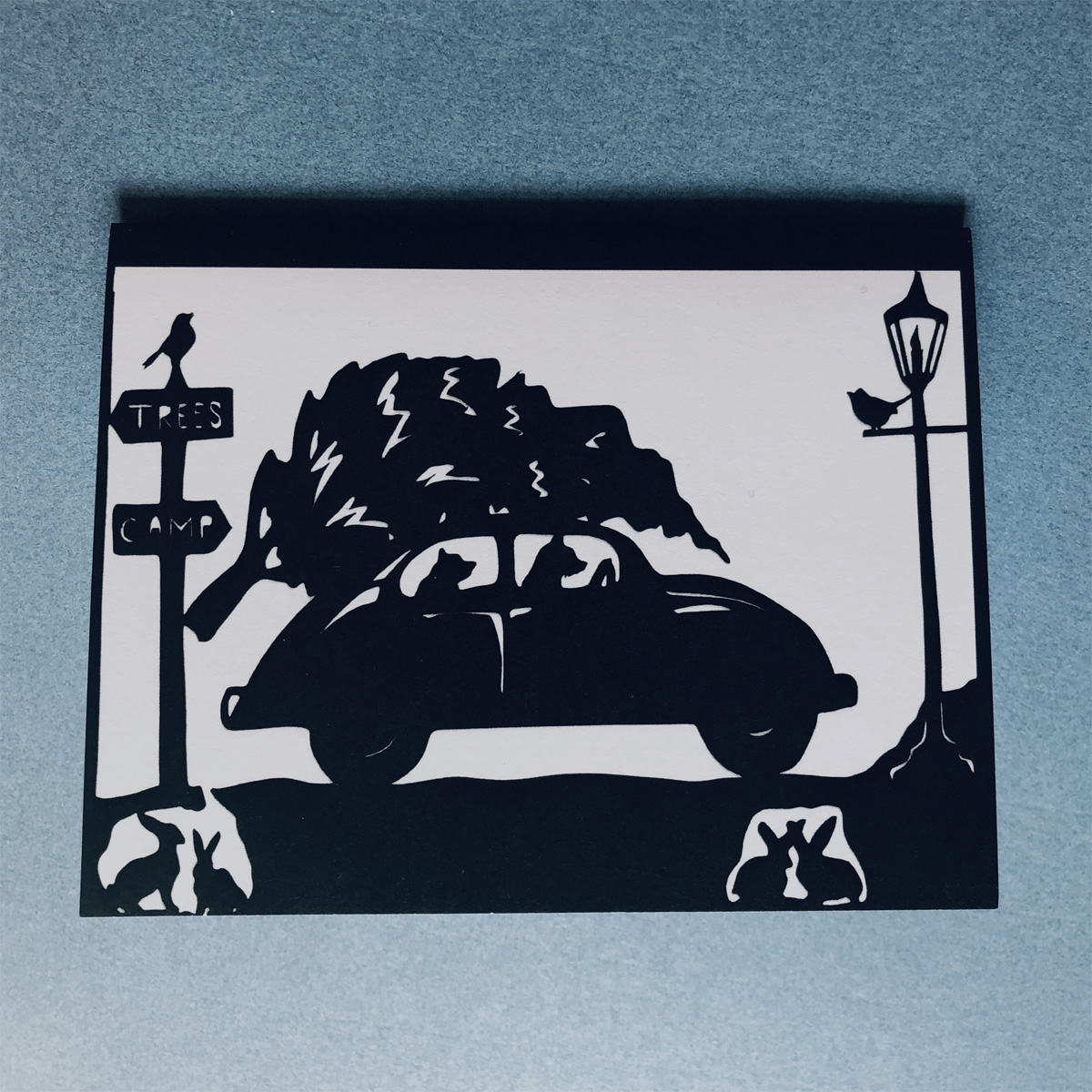 bear car card