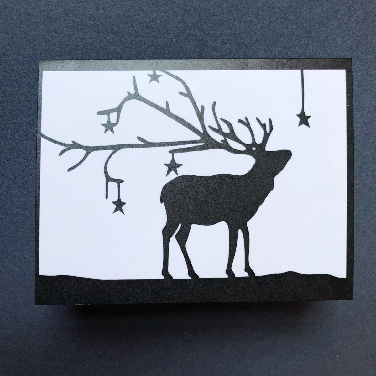 card starry deer