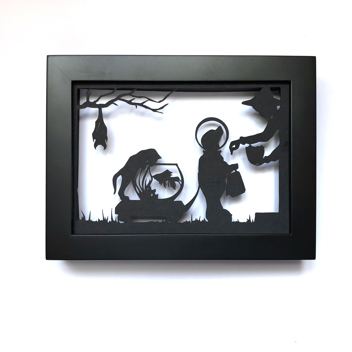 trick or treat 5×7 black and white