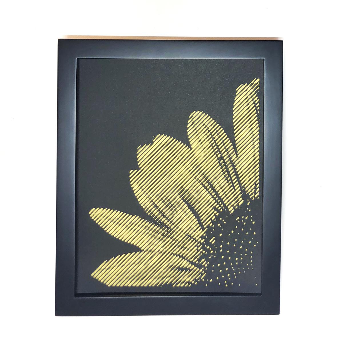 frame sunflower corner