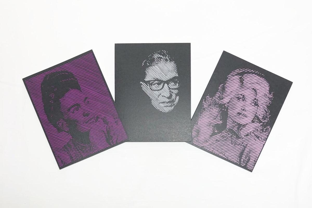 Set of 3 cards RBG DollY Frida