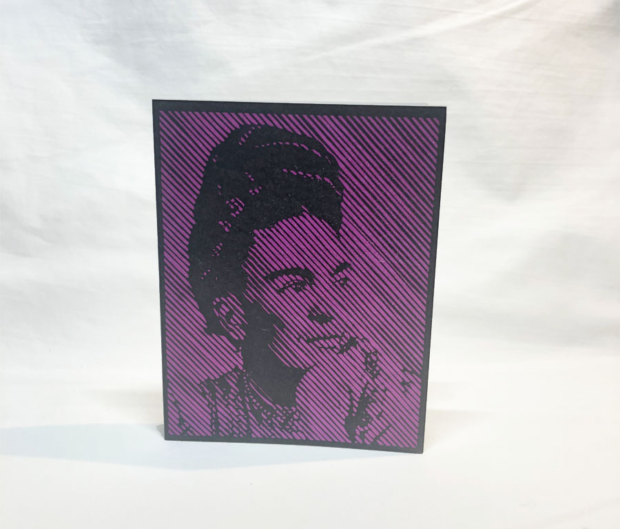greeting card frida kahlo portrait